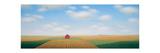 Long Barn Field Giclee Print by Sharon France