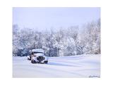 Betsey in the Snow Lámina giclée por Lynn Garwood