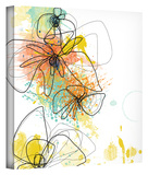 Orange Botanica Gallery-Wrapped Canvas Stretched Canvas Print