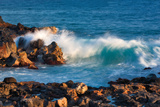 Rock and Rolling Waves Photographic Print by Dennis Frates