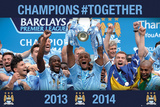 Manchester City - Prem League Winners 13/14 Prints