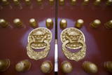 A Restored Gilt Lacquered Door Guards the Temple of Heaven in Beijing Photographic Print by Diego Azubel