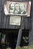 Poster with the Portraits of Karl Marx, Freidrich Engels and Lenin Photographic Print by Sergei Chirikov