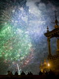 People Watch Fireworks During the Celebrations of the Fallas Festival in Valencia Photographic Print by Kai Foersterling