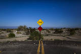 A Street Sign Marks the End of the Road in Salton City, California, USA Photographic Print by Jim Lo Scalzo