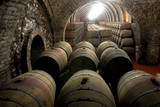 Oak Casks Wait for the Grape Juice after the Vintage of Port Wine-Grapes Reproduction photographique par Ferenc Kalmandy