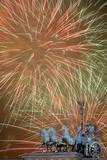 Fireworks Light the Sky Above the Brandenburger Tor (Brandenburg Gate) in Berlin, Germany Photographic Print by Soeren Stache