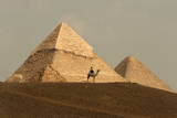 Tourism around the Great Pyramids of Giza Photographic Print by Mike Nelson