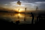 Sun Set at the Dal Lake Photographic Print by Farooq Khan
