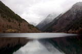 One of the Tiger Lake at the Jiuzhaigou Scenic Reserve in Southwest China's Sichuan Province Photographic Print by Diego Azubel