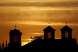 Sunsets Behind an Orthodox Church on a Warm Autumn Day in Kosovo Photographic Print by Valdrin Xhemaj