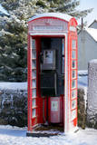 A Snow Covered Phone Box in Prince Town, Dartmoor, Devon, Britain Photographic Print