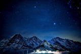 Stars Shine Above the Mountains Eiger Photographic Print by Alessandro Della Bella