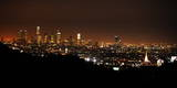 The Skyline of Downtown Los Angeles Is Seen from the Hollywood Hills, Hollywood, California, USA Photographic Print by Michael Nelson