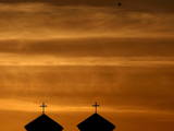 Sunsets Behind an Orthodox Church on a Warm Autumn Day in Pristina Photographic Print by Valdrin Xhemaj