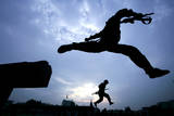 Paramilitary Soldiers Practise in a Training Camp in Hangzhou in East China's Zhejiang Province Photographic Print by Bao Dunyuan
