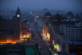 Wangfujing Pedestrian Shopping Street at Dusk Photographic Print by Michael Reynolds