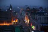 Wangfujing Pedestrian Shopping Street at Dusk Photographic Print by Michael Reynolds