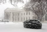 A General View of the North Lawn of the White House on a Snowy Day in Washington Photographic Print by Michael Reynolds