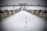 Snow Blankets the Forbidden City in Beijing, China Photographic Print by Diego Azubel