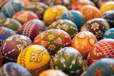 Many Colorful Eggs are on Display Photographic Print by Lukas Kreibig