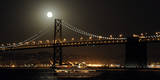 The Moon Rise over the Bay Bridge in San Francisco, California, USA Photographic Print by Matt Campbell
