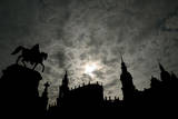 Silhouette of Historic Dresden Photographic Print by Ralf Hirschberger