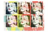 Monroe Painted Poster by Enrique Rodriquez Jr.