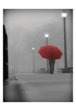 Red Umbrella Print by Sandro De Carvalho