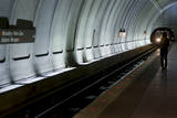 Washington, DC Metro Train Feature Photographic Print by Matthew Cavanaugh