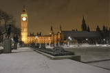 The Houses of Parliament and Parliament Square are Seen Covered in a Layer of Snow in London Photographic Print by Frantzesco Kangaris