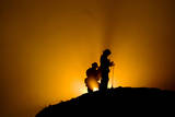 Fire Crews at Night Photographic Print by Michal Czerwonka