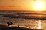 Surfers Walk on the Beach Photographic Print by Nic Bothma
