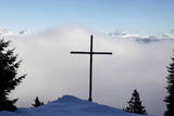 A Wooden Cross on the 1536 Meter High Marola Alp Photographic Print by Arno Balzarini