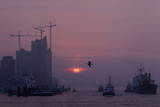Sunrise in Hamburg Photographic Print by Malte Christians