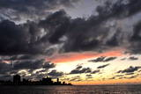 A View of a Sunset with the Buldings of El Vedado Neighborhood in Havana Photographic Print by Alejandro Ernesto