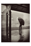 The Umbrella Walker 1 Prints by Sandro De Carvalho