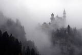 Fog around the Castle of Neuschwanstein Near Fuessen, Germany Photographic Print by Karl-Josef Hildenbrand