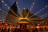 Visitors at the Christmas Fair in Cologne, Germany Photographic Print by Oliver Berg