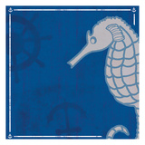 Blue Sea Horse Prints by Lauren Gibbons