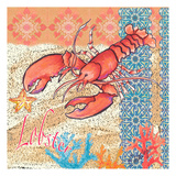 Lobster Tile 3 Posters by Anne Ormsby