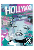 Marilyn Blue Hollywood Prints by Jace Grey