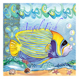 Angelfish Tile 2 Prints by Anne Ormsby