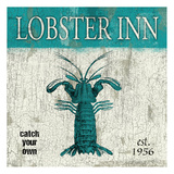 Lobster Teal Posters by Jace Grey