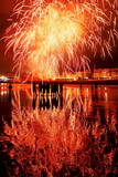 Firework Display Photographic Print by Javier Etxezarreta