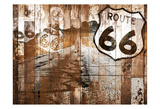 Road To Route 66 (Rust) Prints by Jace Grey