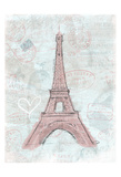 Eiffel Sketch Romantic Poster by  OnRei