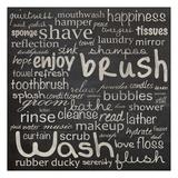 Bathroom Words Poster van Lauren Gibbons