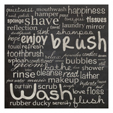 Bathroom Words Poster di Lauren Gibbons
