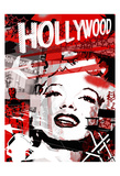 Marilyn Red Hollywood Posters by Jace Grey